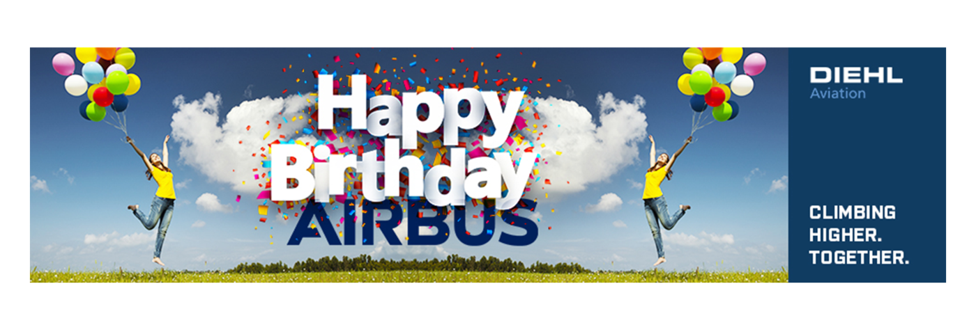 Airbus celebrates 50th Anniversary: Congratulations from Diehl Aviation