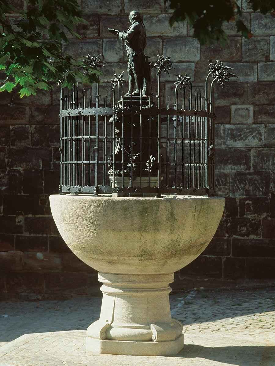 The Grübel fountain on the inner Laufer Platz