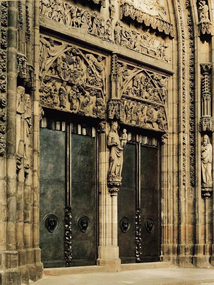 The Door Leaves on the Main Portal of the Church of St. Lorenz