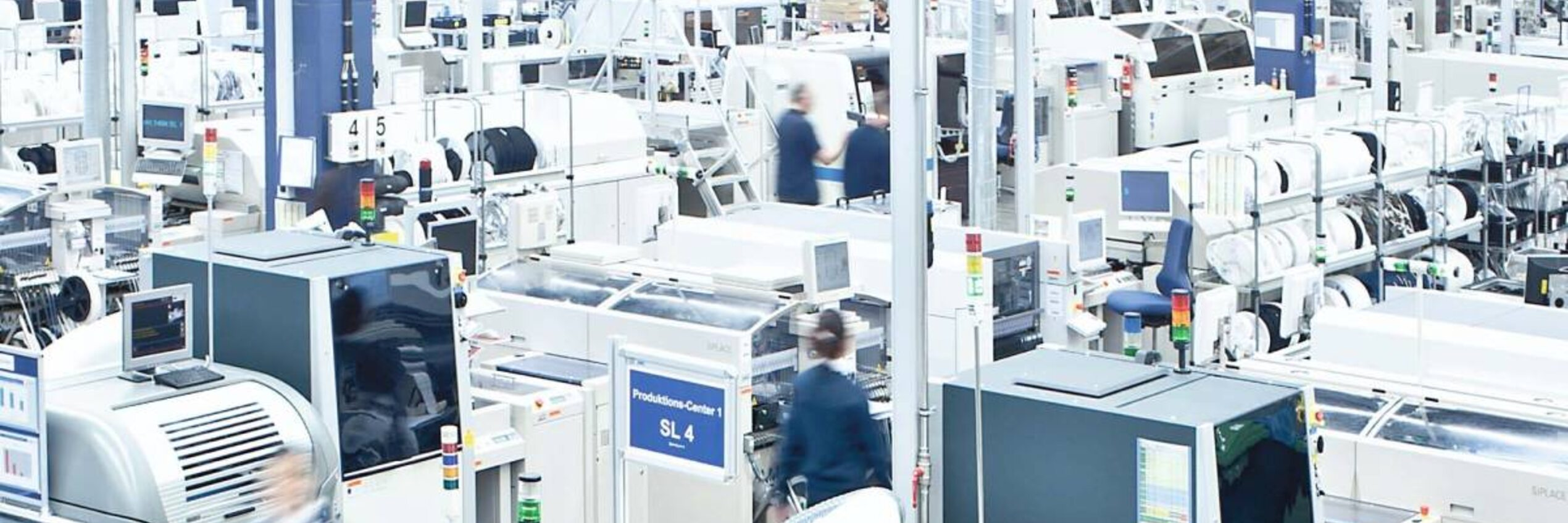 View into the production of Diehl Controls in Wangen
