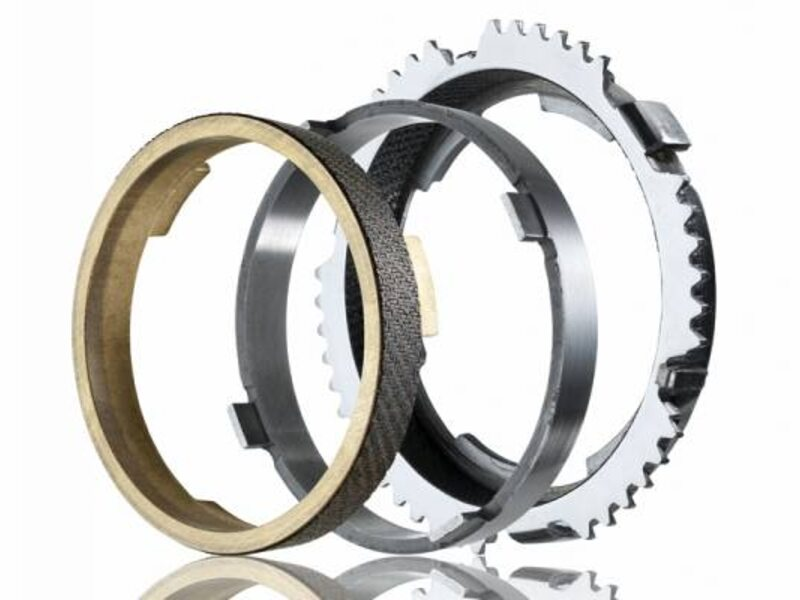 Multi-cone synchronizer ring package (brass & steel)
