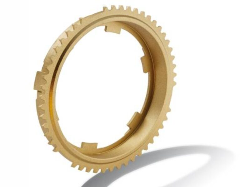 Synchronizer ring without friction layer