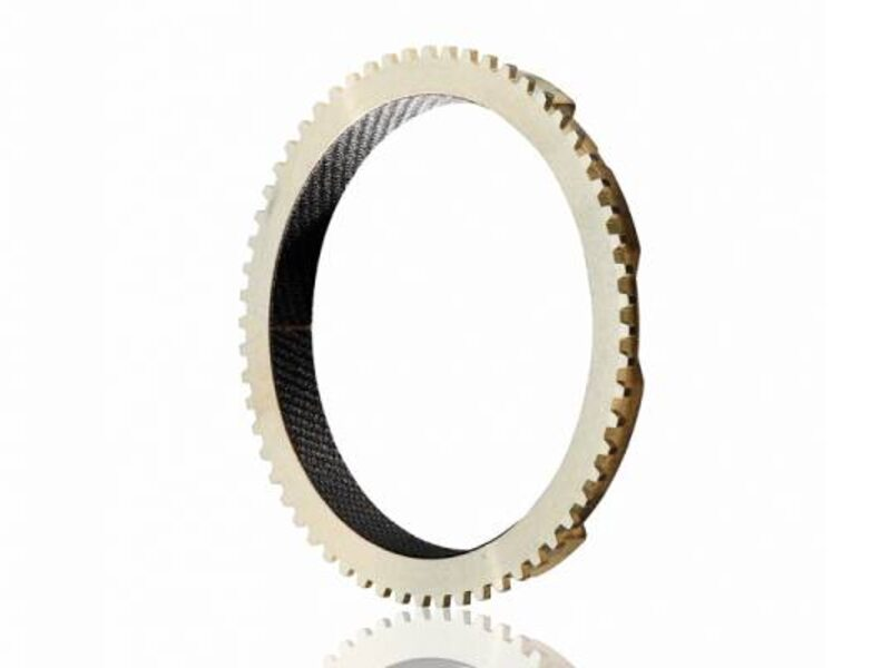 Synchronizer ring with carbon friction layer