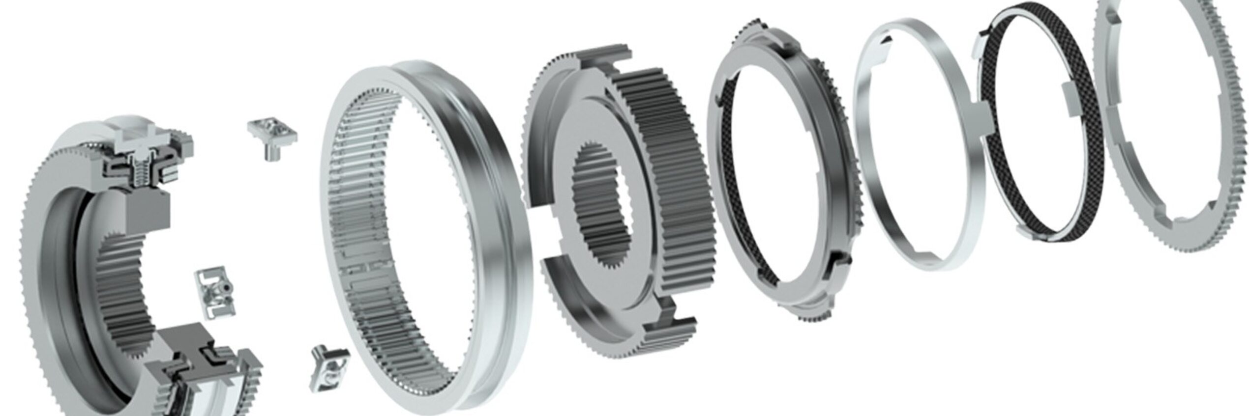 Synchronization systems by Schaeffler and Diehl. The Short System fully utilizes the potential offered by matched components and technologies for reducing the design space without sacrificing performance.