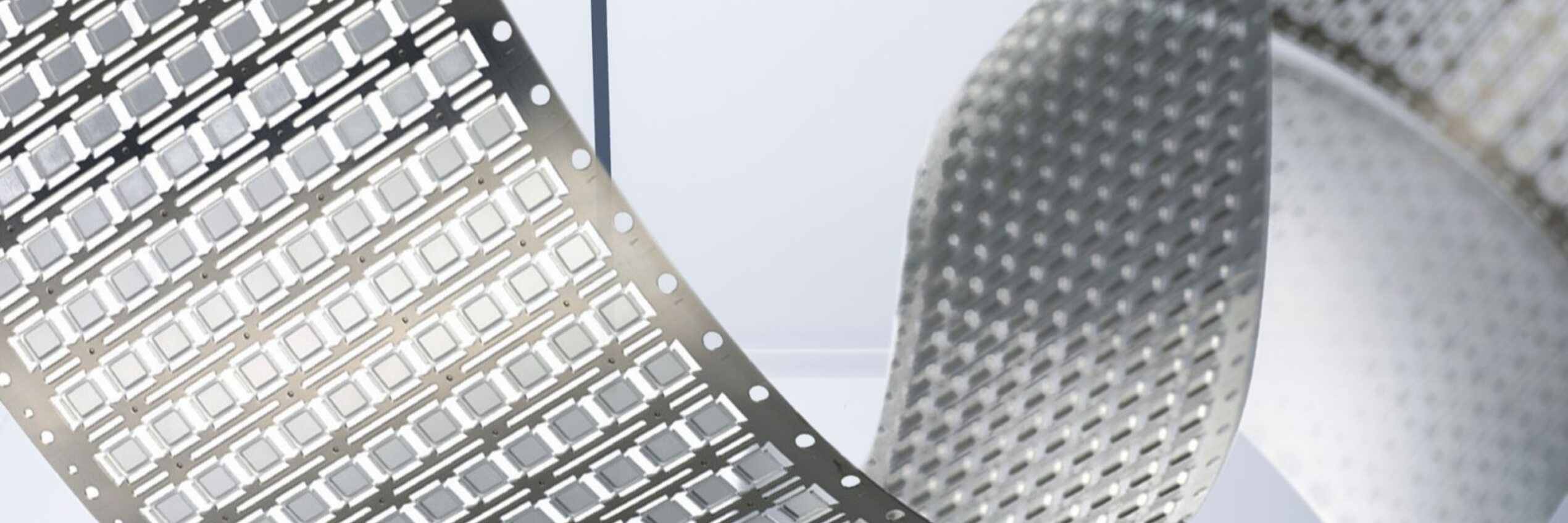 Stamped foils for LED technologies